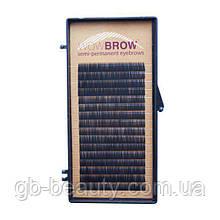 Штучні волоски для брів (WOWBROW, один розмір, чорні, 0,07, J, 7, 16 ліній)