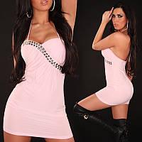 Розовое обтягивающее платье, стильные платья