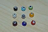 Бусины глаза. стекло лемпворк.  6 мм, фото 2
