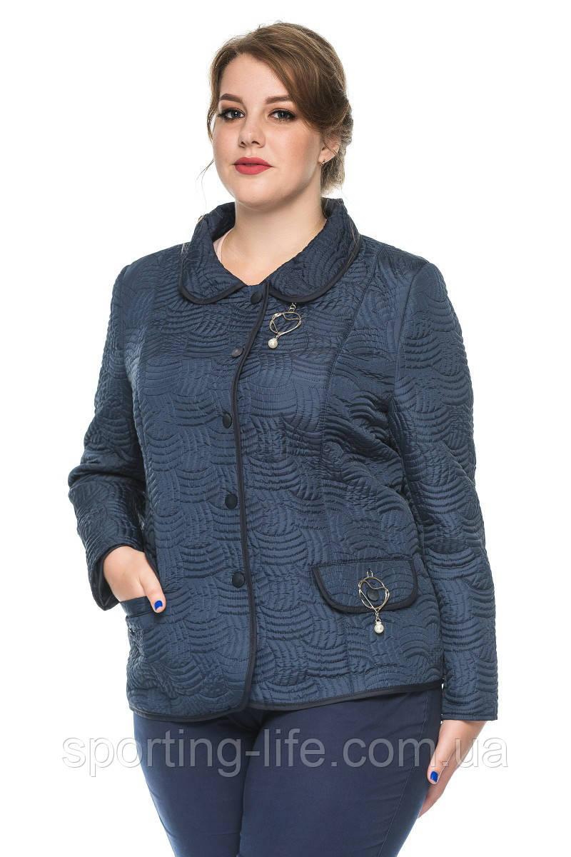 Женский демисезонный пиджак Рада синий(50-60), фото 1