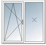 Вікно металопластикове Rehau 1.3*1.4