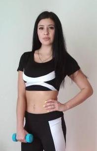 Черно-белый женский спортивный топ 42-48 р