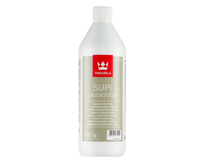 Масло влагозащитное TIKKURILA  SUPI LAUDASUOJA для полок в саунах 1л