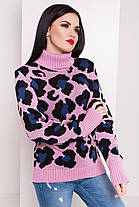Очень модный свитер в леопардовый принт под горло с длинным рукавом 42-46 леопард, фото 2