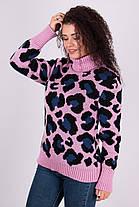 Очень модный свитер в леопардовый принт под горло с длинным рукавом 42-46 леопард, фото 3