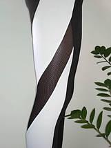Женские черно-белые лосины для спорта 42-48 р, фото 2