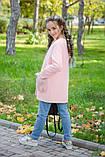 Детское кашемировое пальто с мехом на карманах рост:134,140,146,152, фото 6