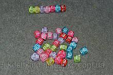 "Бусина кубик английский алфавит.  "" E """
