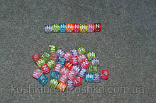 """Бусинки кубики английский алфавит.  """" N """""""