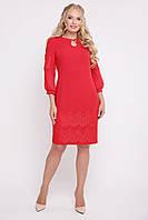 Красивое женское платье Меседа красный (50-56), фото 1