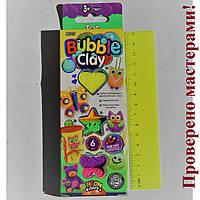 """Набор для лепки """" BUBBLE CLAY"""", 6 неоновых цветов, воздушной, шариковой массы для лепки, шнурок, магнит"""