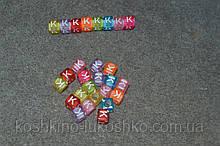 "Бусинки кубики английский алфавит.  "" K """