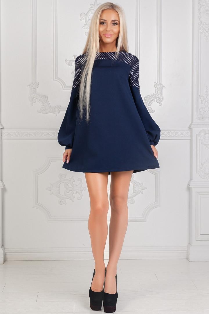 Платье короткое с длинным рукавом