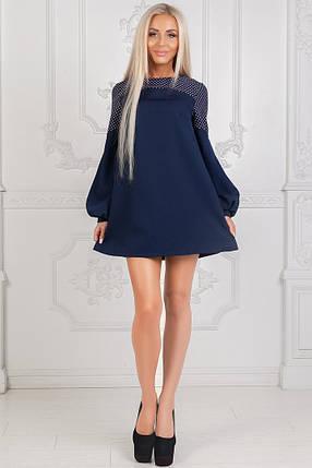 Платье короткое с длинным рукавом, фото 2