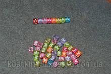 "Бусинки кубики английский алфавит.  "" A """