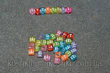 "Бусинки кубики английский алфавит.  "" T """