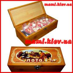 Лото В08873/J 002-2098/ В 9505 в деревянной кор-ке 23-7-10 см