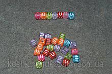 """Бусинки кубики английский алфавит.  """" U """""""