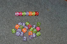 "Бусинки кубики английский алфавит.  "" J """