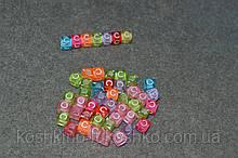 "Бусинки кубики английский алфавит.  "" C """