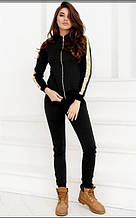 Женский спортивный костюм с кожаными вставками