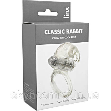 Эрекционное кольцо с вибрацией Linx Classic Rabbit Cock Ring, фото 2