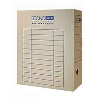 Короб архивный картонный 80 мм Economix, коричневый E32701 - 07