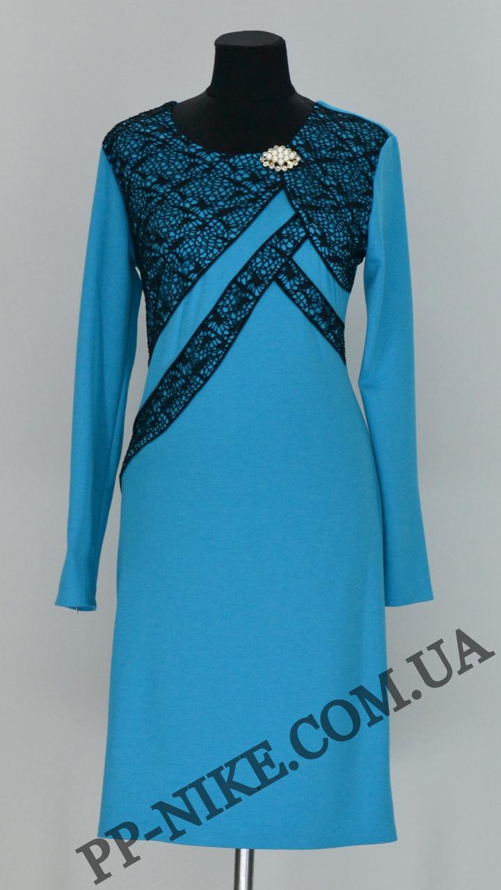 Трикотажное платье № 432