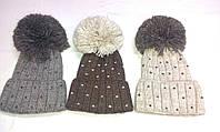 Женские шапки с ниточным помпоном ША-11, фото 1