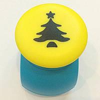 Дырокол фигурный Елка со звездой кнопка 2,5 см