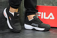 "Мужские кроссовки Off White x Fila Disruptor II ""Yalor"" Black/White"