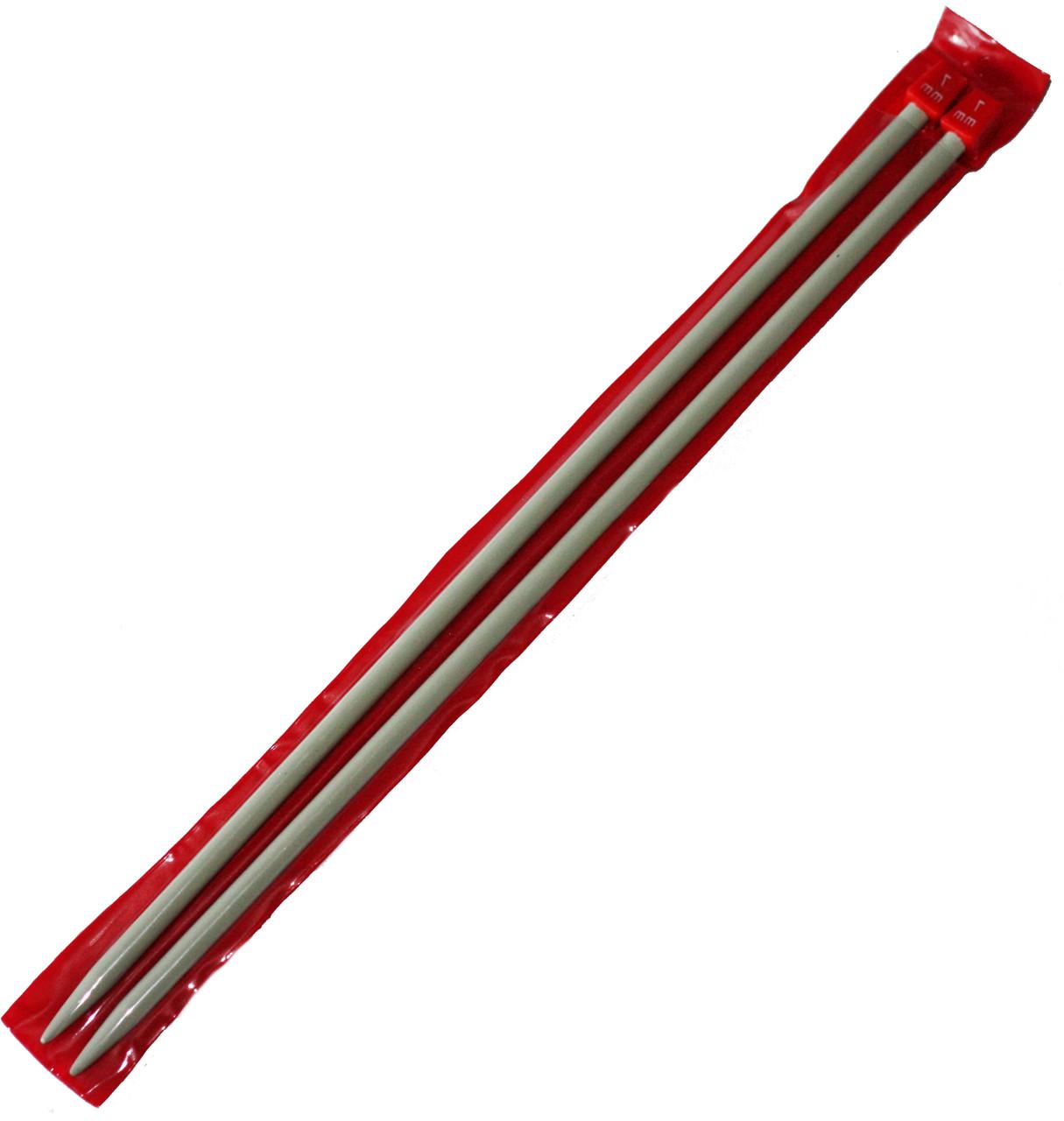 Спицы вязальные №7 (350mm) металлические, покрытие TEFLON