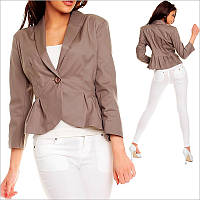 Коричневый пиджак женский, купить женские пиджаки