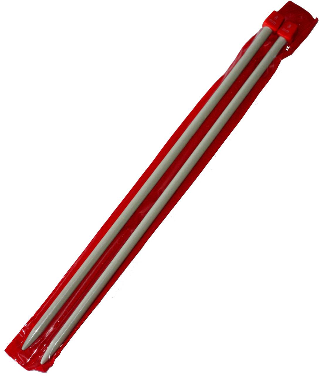 Спицы вязальные №8 (350mm) металлические, покрытие TEFLON