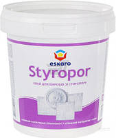 Eskaro Styropor 0,7л Клей для изделий из стиропора - для приклеивания на потолки и стены изделий из пенопласта