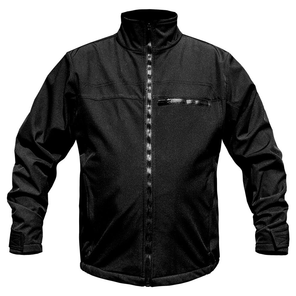 Куртка тактическая утепленная Softshell  ЧЕРНАЯ