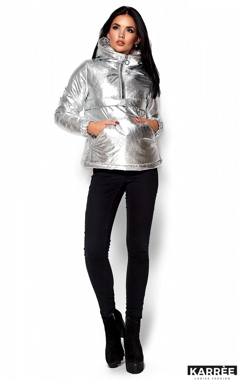 Стильная женская куртка в цвете золото и серебро