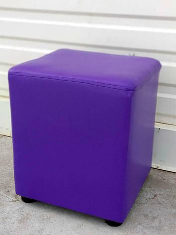 Пуф квадрат фиолетовый, фото 2