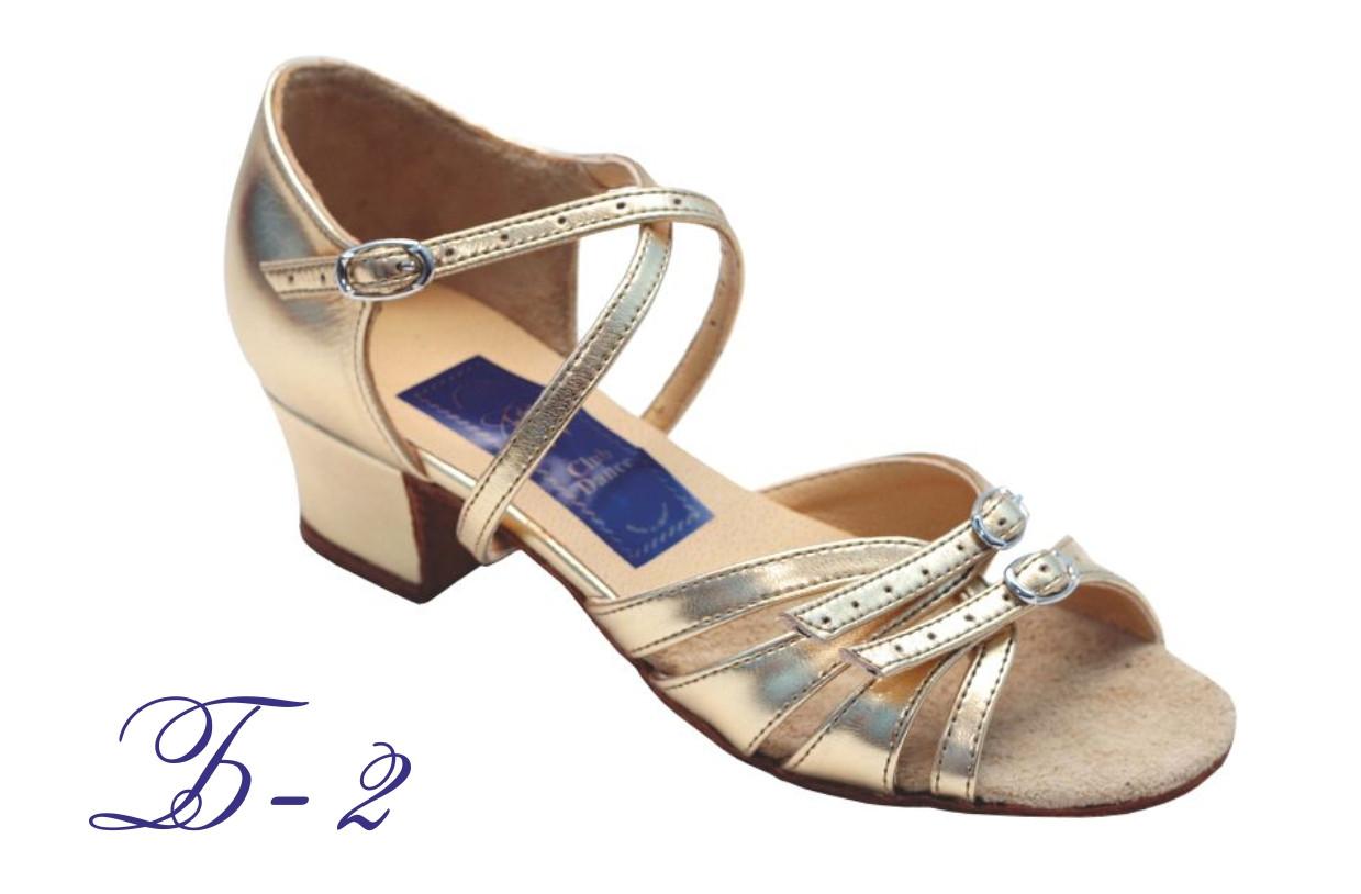 Туфлі для бальних танців ClubDance Б-2 золото