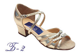 Туфли для бальных танцев ClubDance Б-2 золото