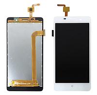 Дисплей (экран) для Bravis A504 Trace Dual Sim с сенсором (тачскрином) белый Оригинал