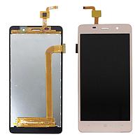 Дисплей (экран) для Bravis A504 Trace Dual Sim с сенсором (тачскрином) золотистый Оригинал, фото 2