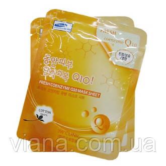 Тканевая антивозрастная маска с коэнзимом Q10 3W Clinic Fresh Coenzyme Q10 Mask Sheet