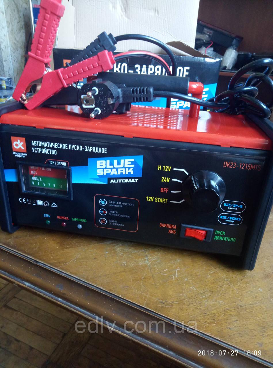 Пуско-зарядное устройство, 12-24V, 15A/100A(старт), аналоговый и LED индикаторы <ДК> DK23-1215MTS