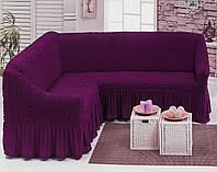 Натяжные чехлы на угловой диван , Турция (Много цветов в наличии)