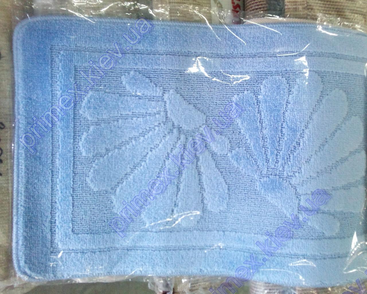 Коврики для ванной комнаты Ракушка цвет голубой