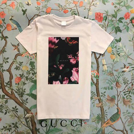 Копия Gucci футболка белая (реплика)