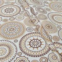 Декоративная ткань для штор, орнамент золото