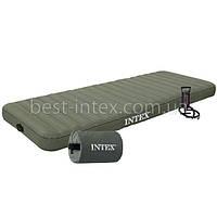 Intex 68711 (76-191-15 см.) Надувной односпальный матрас/Насос 68612