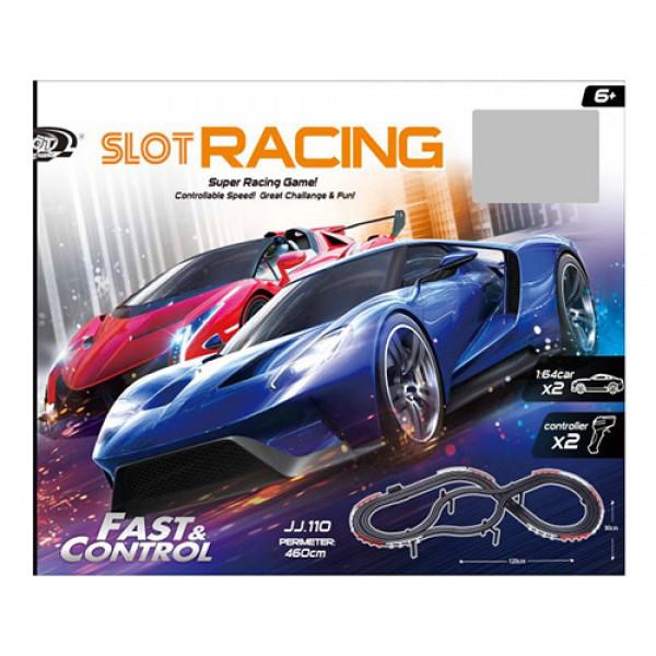 Трек JJ110-2 Slot Racing Track, протяженность460 см/120-90 см, масштаб: 1:64